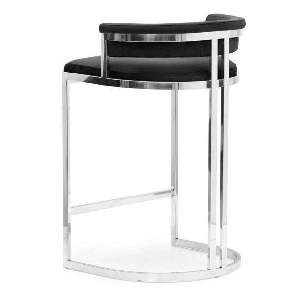 Scaun bar tapitat Vegas negru / silver h68