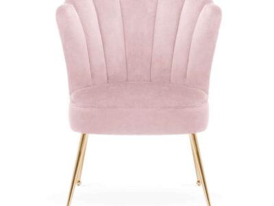 Scaun tapitat Bolonia roz/gold h90 cm