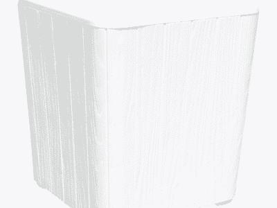 Masuta de exterior IBLIS albă d39xh42 cm
