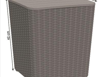 Masuta de depozitare UGUR gri/maro d39xh42 cm 3