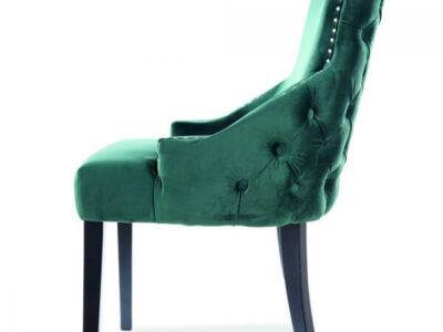 Scaun tapitat George Velvet Verde H96 cm