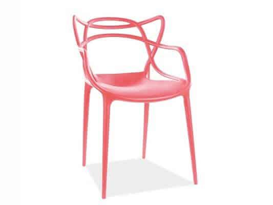 Scaun din plastic Toby rosu H81 cm