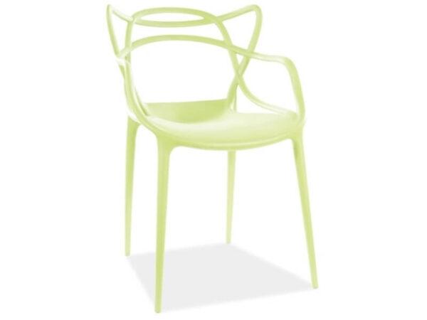 Scaun din plastic Toby verde H81 cm