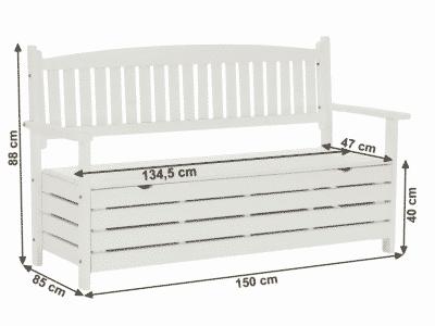 Banca de gradina alba AMULA L150 cm