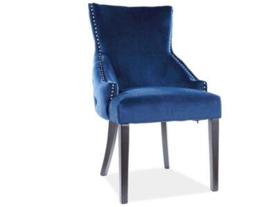 Scaun tapitat George Velvet Albastru H96 cm