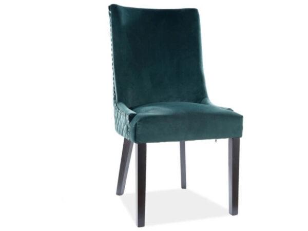 Scaun tapitat Leon Velvet Verde H99 cm