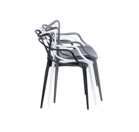 Scaun din plastic Toby negru H81 cm