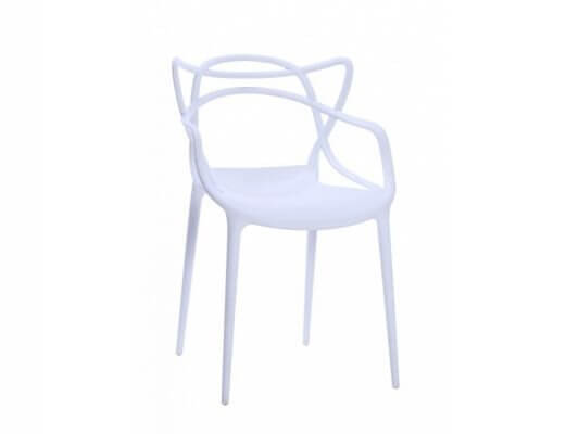 Scaun din plastic Toby alb H81 cm