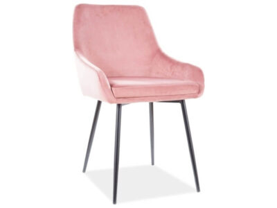Scaun Albi Velvet roz H82 cm