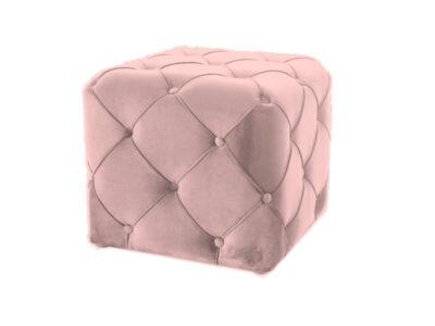 Taburet catifea Aviva K roz antic H45 cm