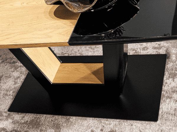 Masa extensibila Sydney negru/stejar L160-220 x l90 x h76