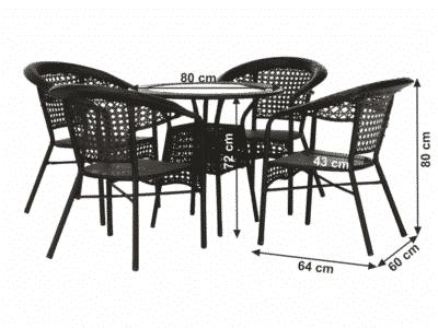 Set masa GETON + 4 scaune