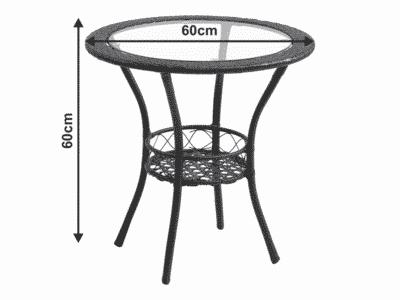 Set masa LASAN + 2 scaune