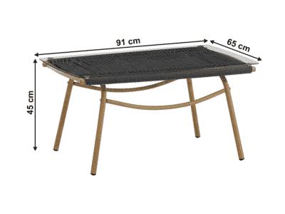 Set masa BAREN + 2 fotolii + 1 canapea