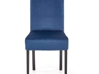 Scaun tapitat CLARION 2 velvet albastru H97 cm