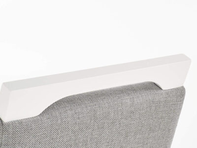 Scaun tapitat Clarion gri alb