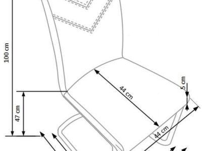 Scaun tapitat K224 alb