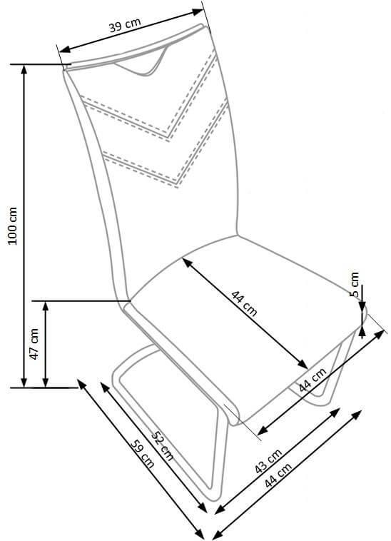 Scaun tapitat K224 gri