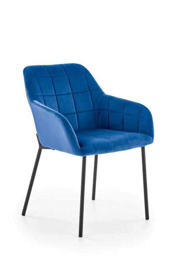 Scaun tapitat K305 velvet albastru