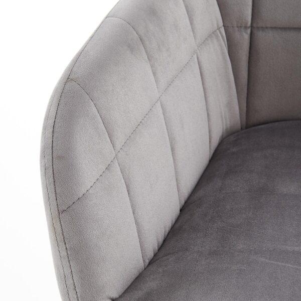 Scaun tapitat K305 velvet gri