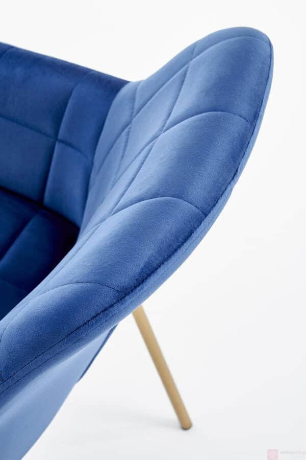 Scaun tapitat K306 albastru