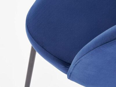 Scaun tapitat K314 velvet albastru