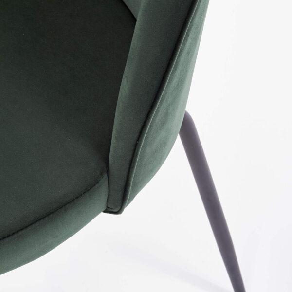 Scaun tapitat K314 velvet verde