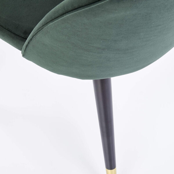 Scaun tapitat K315 velvet verde