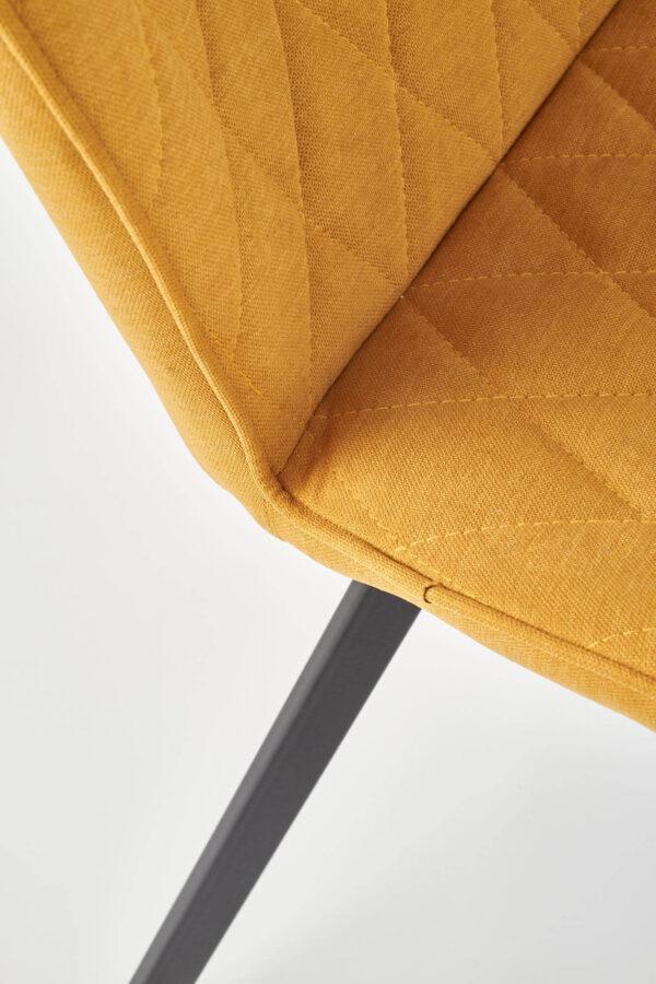 Scaun tapitat K360 mustariu