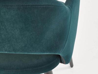 Scaun tapitat K364 velvet verde