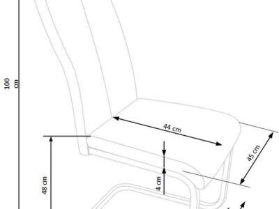 Scaun tapitat K370 gri