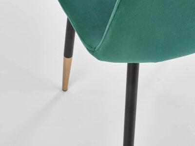 Scaun tapitat K379 velvet verde