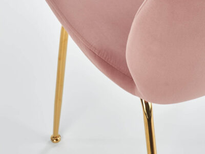 Scaun tapitat K381 roz