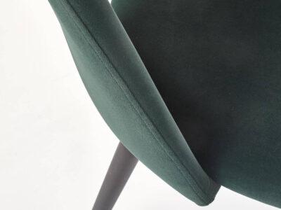 Scaun tapitat K384 velvet verde