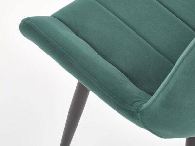 Scaun tapitat K388 velvet verde
