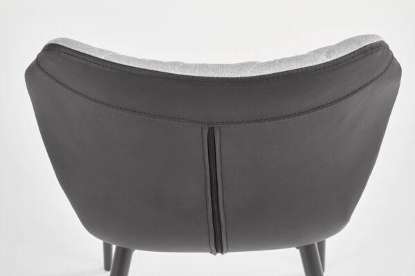 Scaun tapitat K389 gri/negru