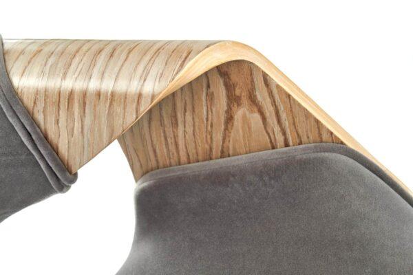 Scaun tapitat K396 gri stejar