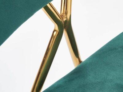 Scaun tapitat K411 velvet verde