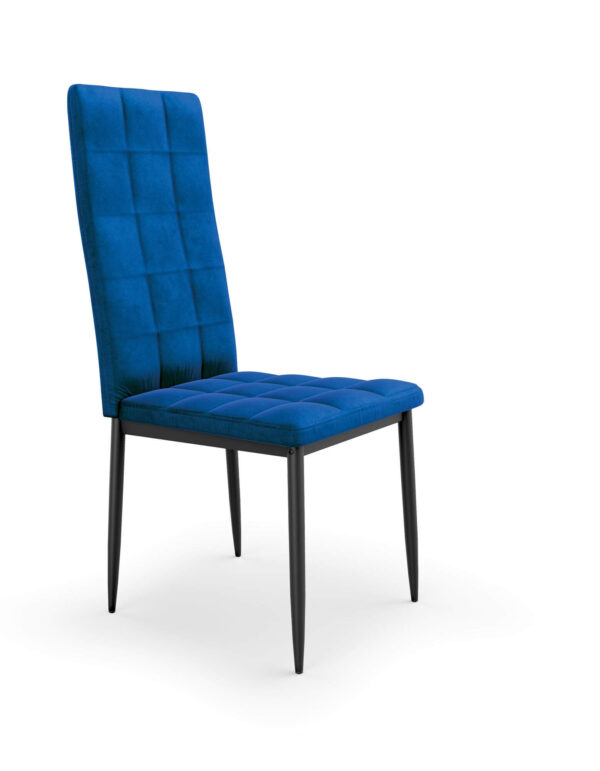 Scaun tapitat K415 velvet albastru