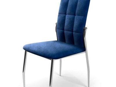Scaun tapitat K416 velvet albastru