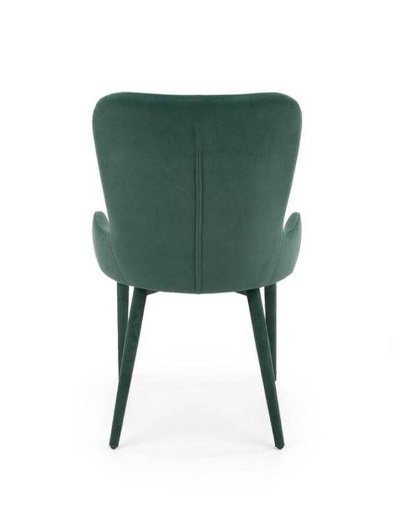 Scaun tapitat K425 velvet verde H86 cm