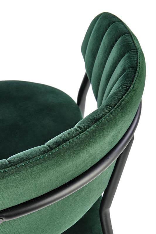Scaun tapitat K426 velvet verde H79 cm