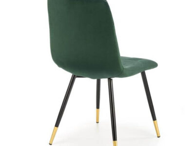Scaun tapitat K438 velvet verde H86 cm