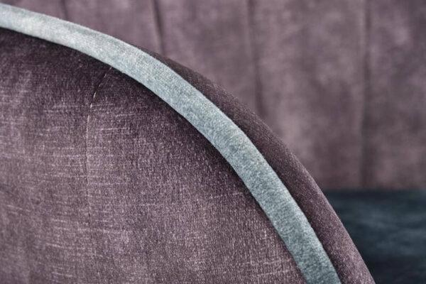 Scaun tapitat K440 velvet gri/albastru inchis H82 cm