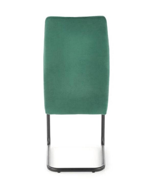 Scaun tapitat K444 velvet verde H97 cm