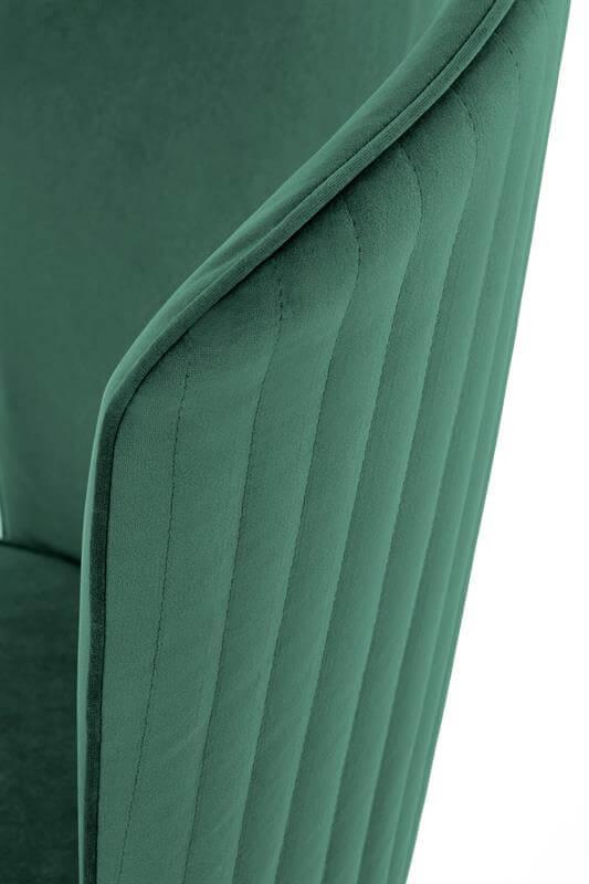Scaun tapitat K446 velvet verde H86 cm