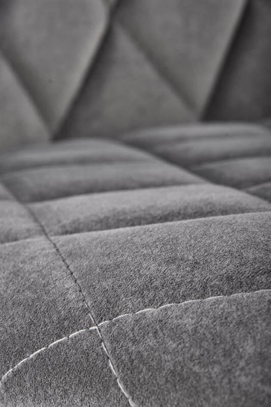 Scaun tapitat K450 velvet gri H85 cm