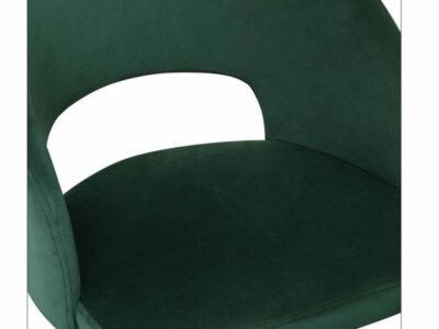 Scaun tapitat K455 velvet verde H77 cm