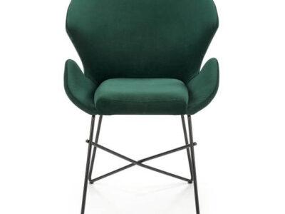 Scaun tapitat K458 verde H83 cm