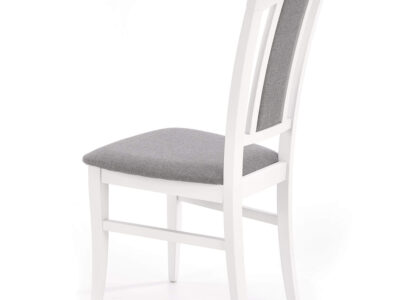 Scaun tapitat Konrad gri alb